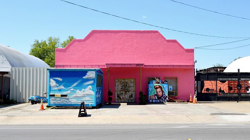 Pink Stucco Facade