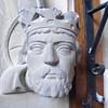 Carved kings head.
