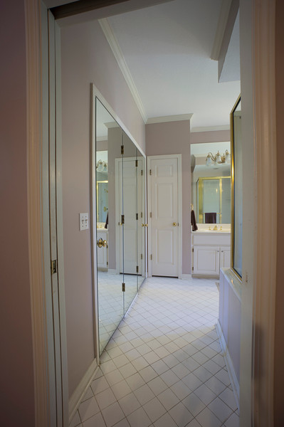 leave the mirrors on the closet doors?