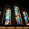 Stained-glass windows in Christ Church Cathedral, Vancouver BC, by renowned Coast Salish artist Susan Point.  Sony A900 / CZ24-70 at 24mm, 1/80sec at f/7.1, ISO 200.