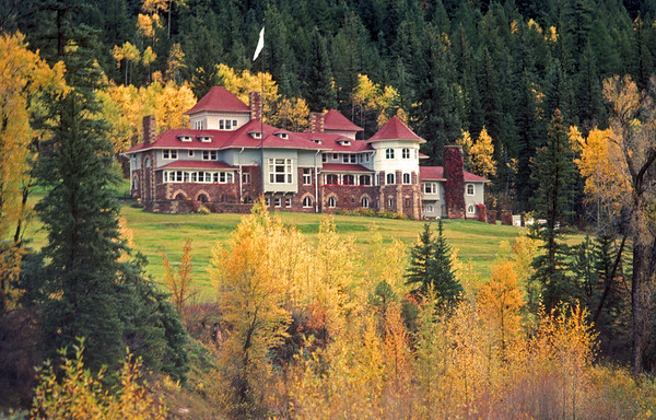 Cleveholm Manor of Crystal River near Redstone Colorado.  You can't take this pic now. The trees have all grown up.