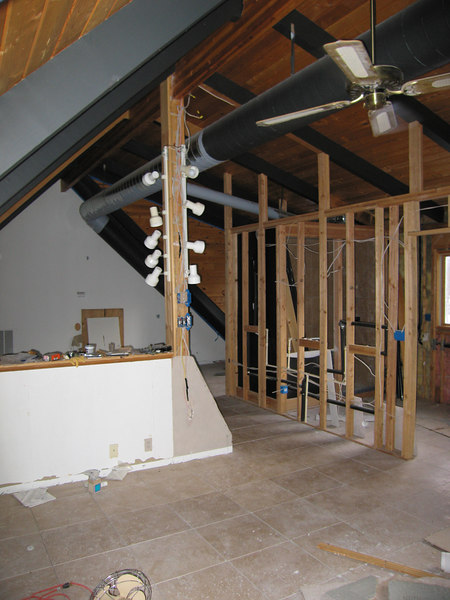 Loft bedroom area