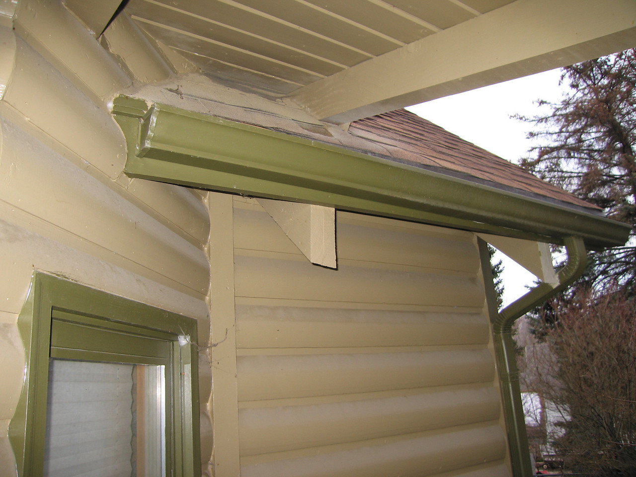 southern-most porch roof beam
