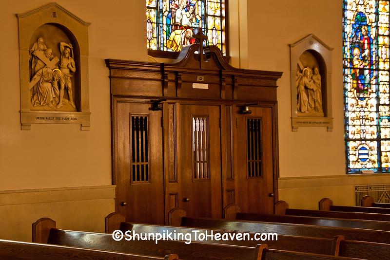 Confessional, St. Luke's Catholic Church, Plain, Wisconsin