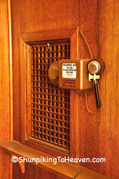 Hearing Aid in Confessional, St. Luke's Catholic Church, Plain, Wisconsin