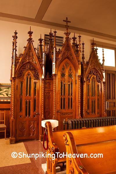 Confessional, Basilica of St. Francis Xavier, Dyersville, Iowa