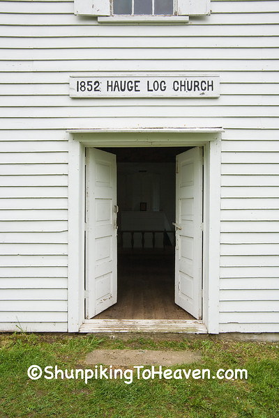 Door of Hauge Log Church (1852), Dane County, Wisconsin