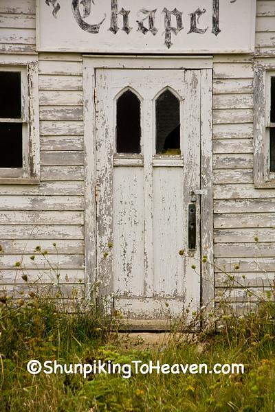 Door of Abandoned Chapel, Vernon County, Wisconsin