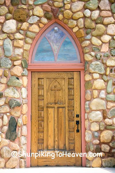 Door on St. John Nepomucene Catholic Church, Antrim County, Michigan