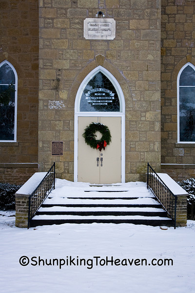Doors and Steps of the Salem Church, Sauk County, Wisconsin