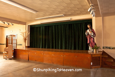 Stage in Hall of St. Luke's Catholic Church, Plain, Wisconsin