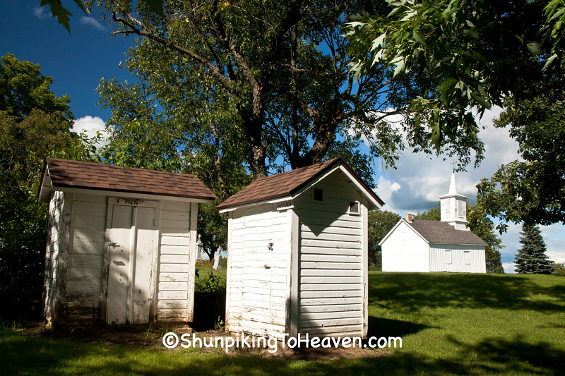 Outhouses at the Island Church, Jefferson County, Wisconsin