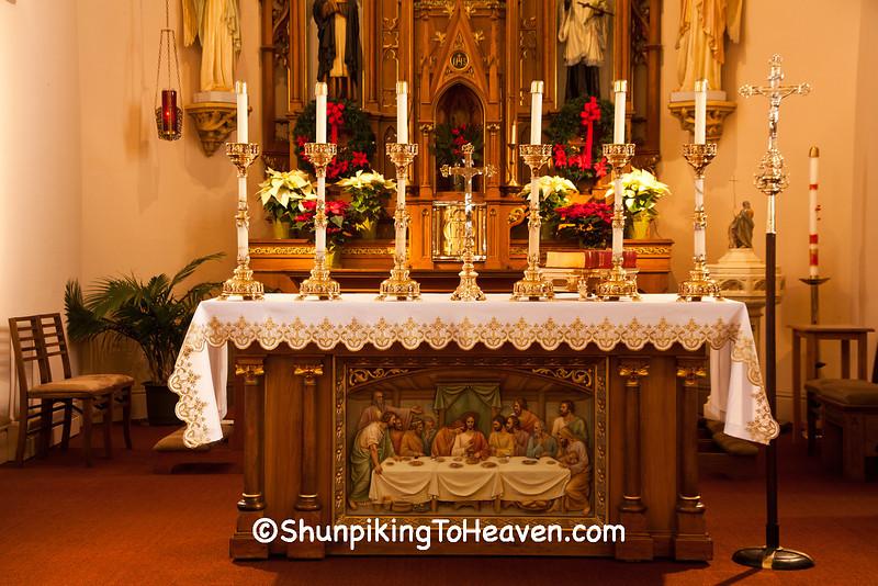 Altar at St. Martin's Catholic Church, Martinsville, Dane County, Wisconsin