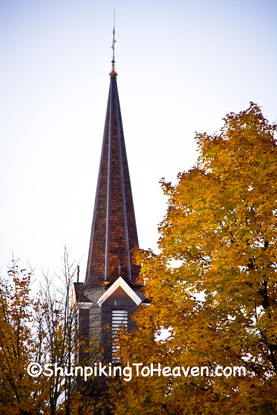 Steeple with Fall Color, Muscoda, Wisconsin