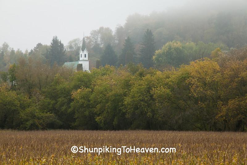 Brush Creek Lutheran Church in Fog, Vernon County, Wisconsin
