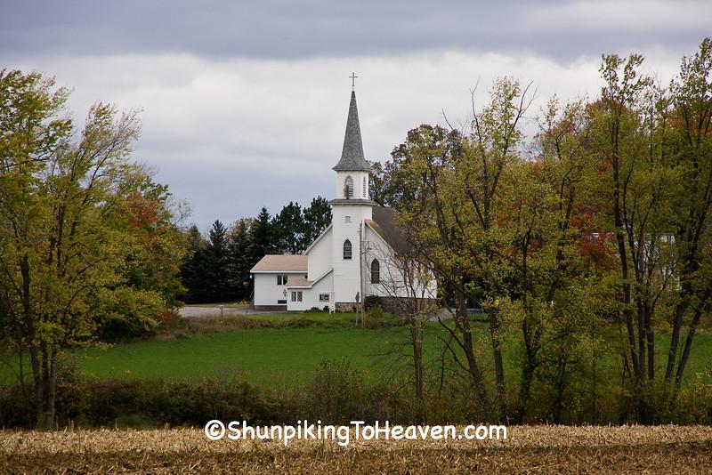 White Church in Autumn, Waupaca County, Wisconsin