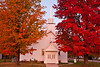Autumn at Argonne United Methodist Church, Forest County, Wisconsin