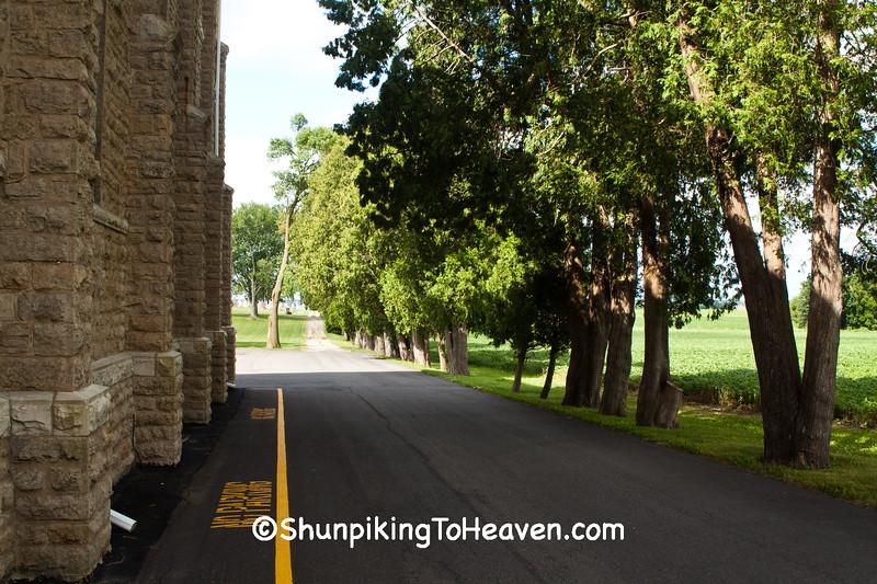 Side of St. Joseph's Catholic Church, East Bristol, Wisconsin