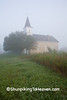 Our Lady of Loretto Church Cloaked in Early Morning Fog, Sauk County, Wisconsin