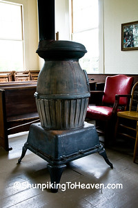 Antique Pot-bellied Stove at Hyde Chapel, Iowa County, Wisconsin