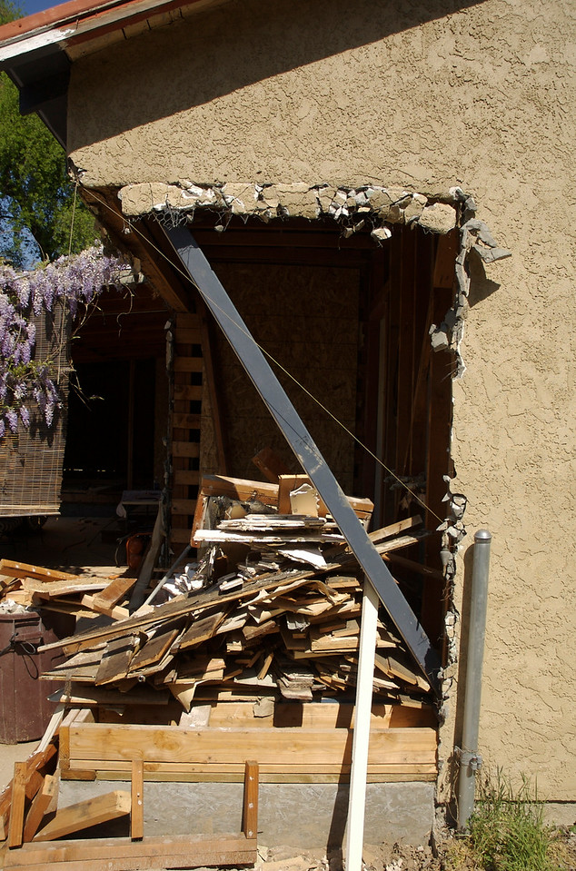 This corner of the house was exterior.  We will frame this up and use it for the new laundry room and widened kitchen.