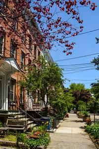 Residences lining Historic Court Street