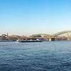 Rhein-Panorama mit Hohenzollernbrücke und Dom