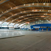 Inside the Richmond Olympic Oval in May 2010, as the oval was being converted from speed skating to the current mixed-use recreation facility.