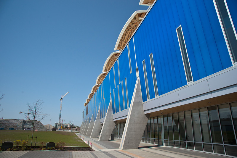 The south side of the Richmond Olympic Oval.