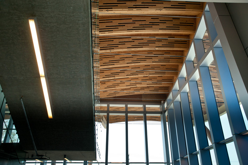 Inside the lobby of the Richmond Olympic Oval.