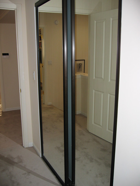 Sliding glass doors on the other closet in the Master Bedroom.
