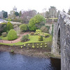 January 2011. The Brig o' Doon, Alloway, Ayrshire, looking towards the Burns Monument and gardens.
