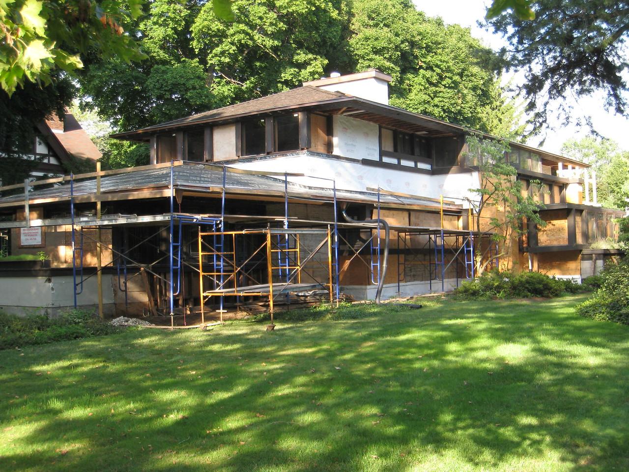 "Frank Lloyd Wright's ""Boynton"" House in Rochester, New York - under renovation July 20, 2010."