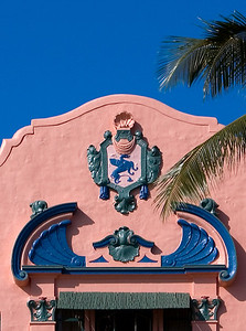 Detail on the Pink Palace