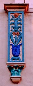 Pink Palace Art Detail at Dusk