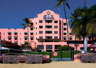 Pink Palace from the Beach