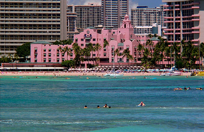 Pink Palace from the Pier