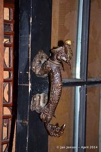 door handle in bathroom