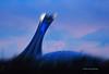 Impression of the stadium at daybreak<br /> 4345 rue Clark<br /> April 16, 2014