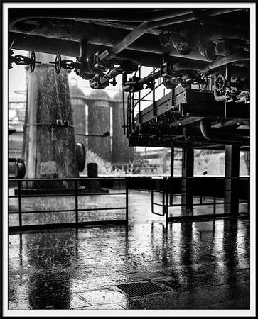Regen am Hochofen