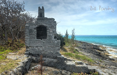 Ruins along railway trail, Shelly Bay, Hamilton Parish.