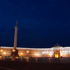Winter Palace and Alexander column, Saint Petersburg at night.