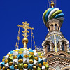 Exterior detailed view of the Orthodox church of the spilled blood at Saint Petersburg, Russia.
