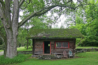 Rustic cabin at Skylands State Park in New Jersey