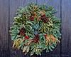 Wreath and old door knocker. Caumsett State Park,Lloyd Harbor,NY.