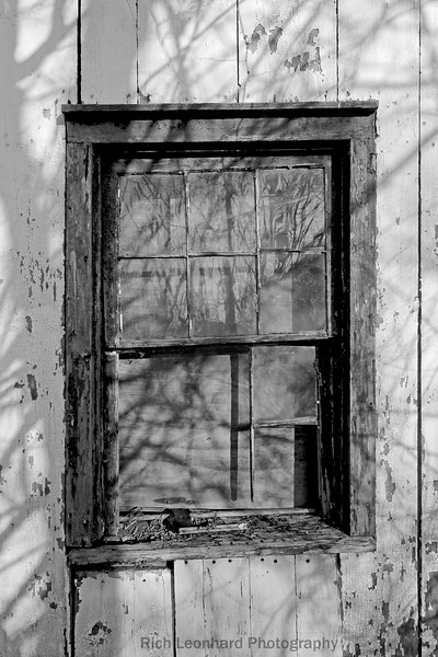 Rustic window at Uplands Farm in Cold Spring Harbor,NY.