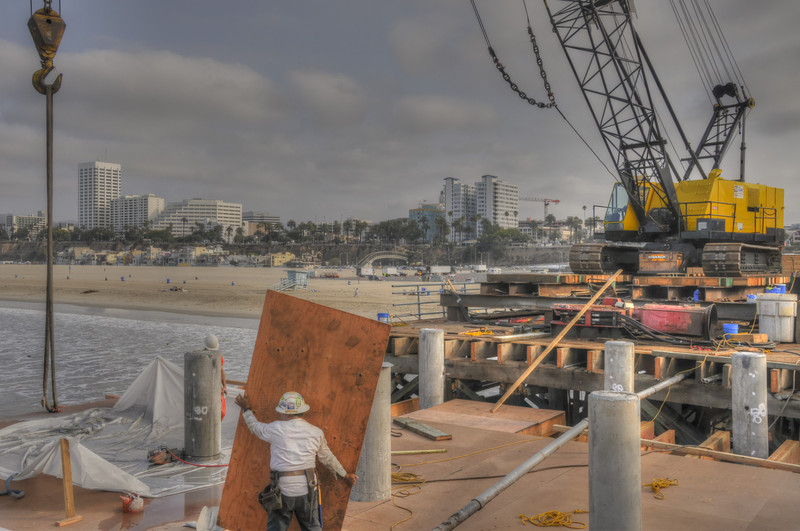 the pier is getting a new section of pilings & roadbed - September 2013