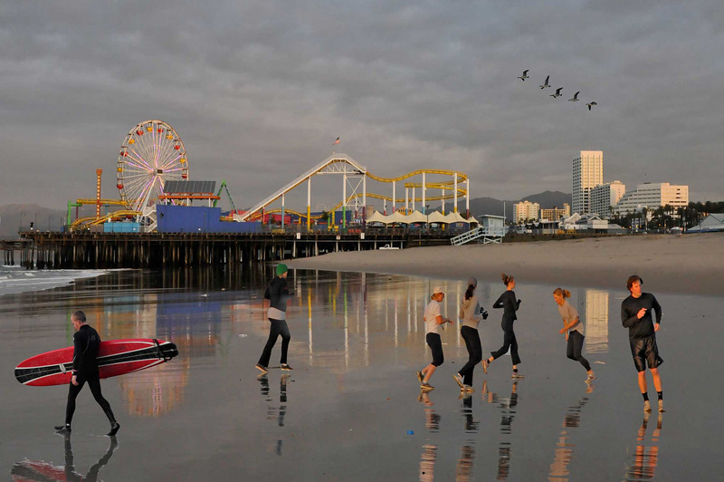 exercise at low tide-March, 2011 - Santa Monica CA