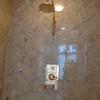 Master bedroom shower, close-up.