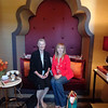 """A docent took this photo of Lori and I in the """"phone-nook."""""""